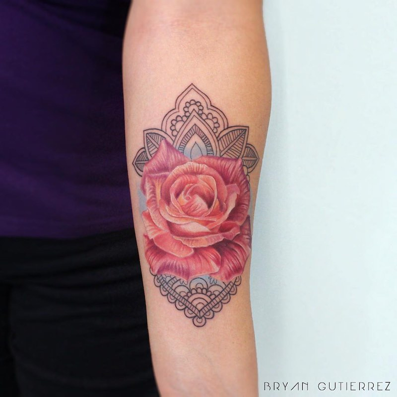 Rose Tattoo Bryan Gutierrez