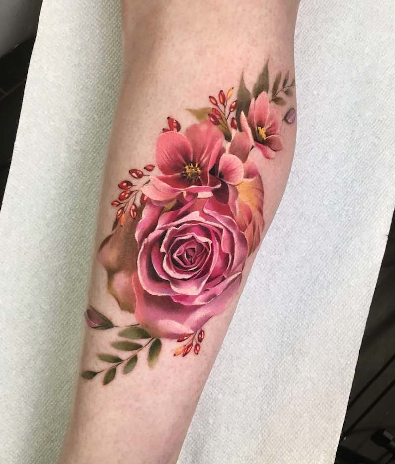 Rose Tattoo by Antonina Troshina
