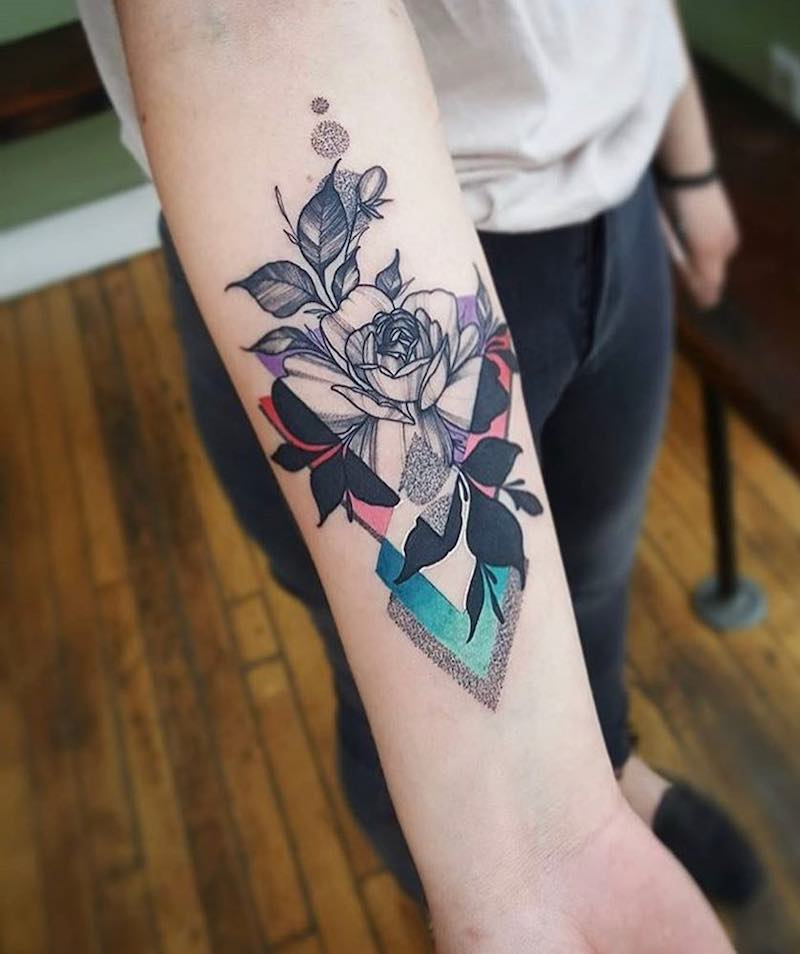 Rose Tattoo by Cameron Pohl