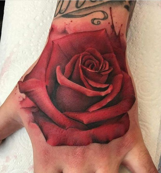 Rose Tattoo by Rachel Honeywell