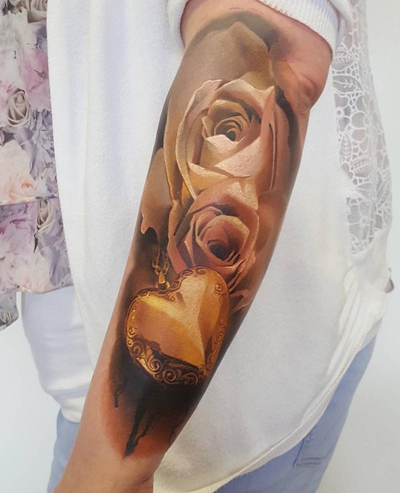 Rose Tattoo by Tomek Lapa