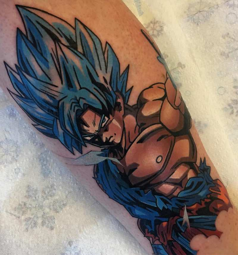 SSB Goku Tattoo by Dane Grannon