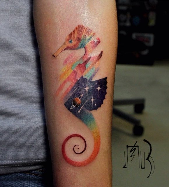 Seahorse Tattoo by Alexey