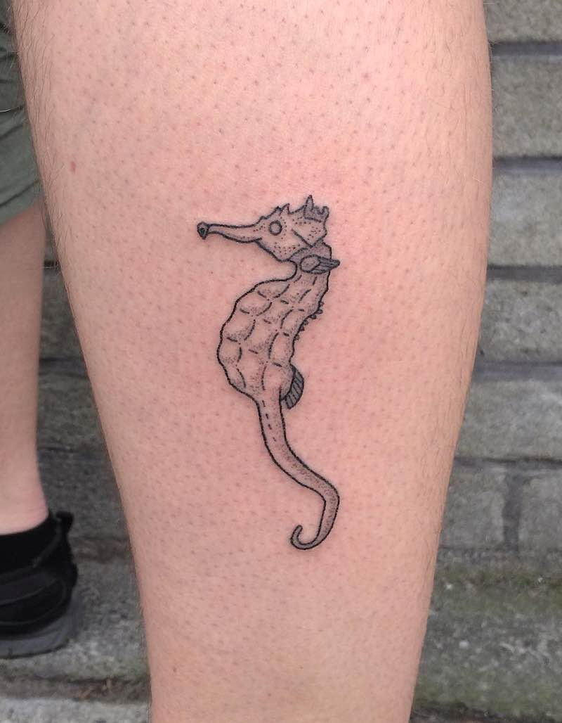 Seahorse Tattoo by Cate