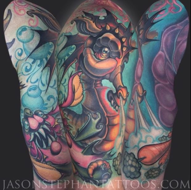 Seahorse Tattoo by Jason Stephan