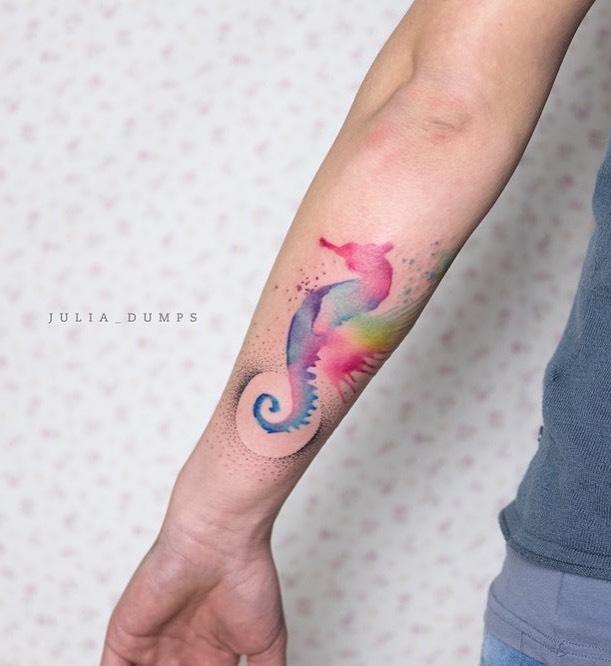 Seahorse Tattoo by Jules Boho