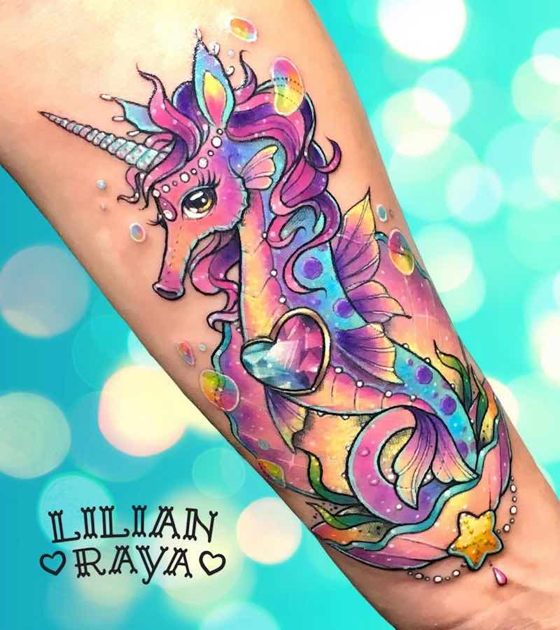 Seahorse Tattoo by Lilian Raya