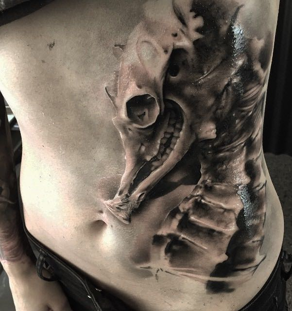 Seahorse Tattoo by Neon Judas