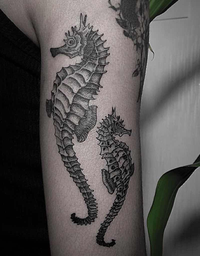 Seahorse Tattoo by OOZY