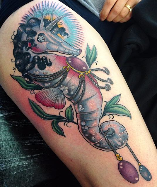Seahorse Tattoo by Sadee Glover