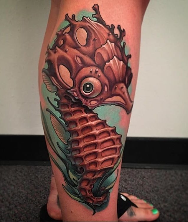 Seahorse Tattoo by Shawn Will