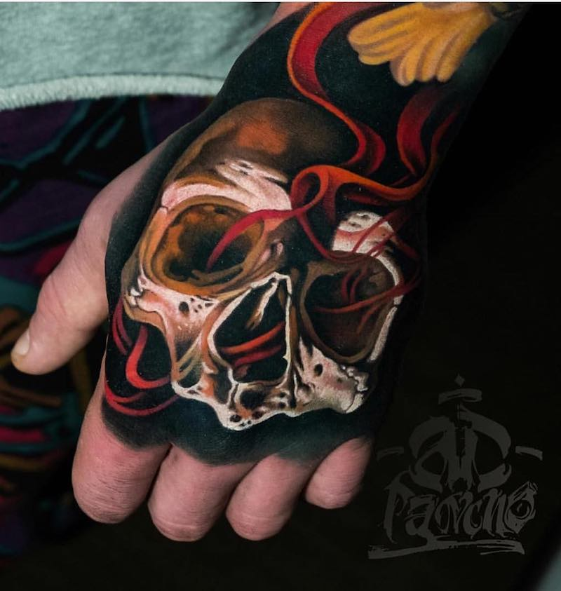 Skull Tattoo by Alex Pancho