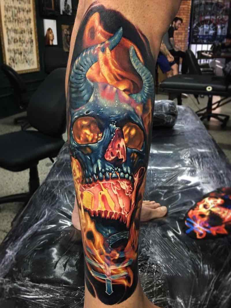 Skull Tattoo by Ben Kaye