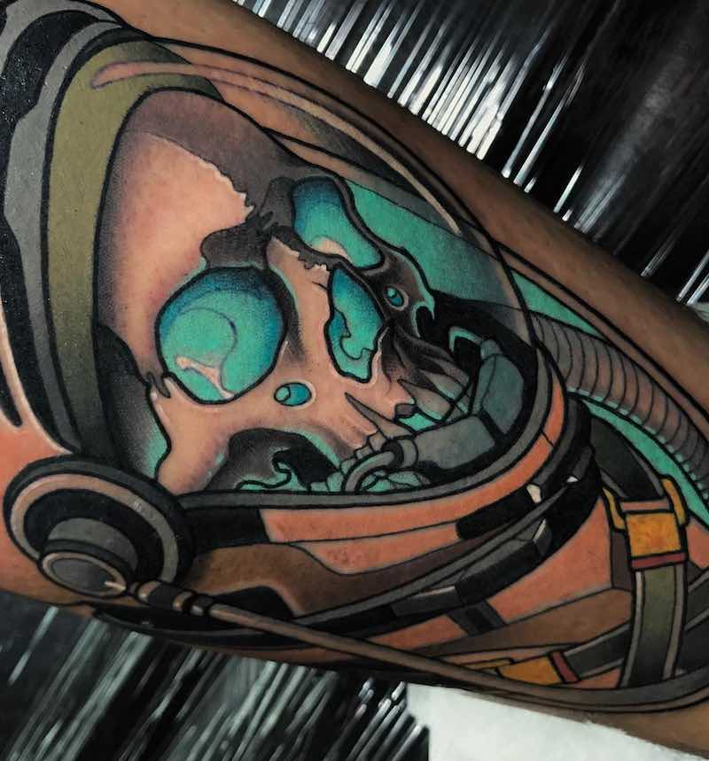Skull Tattoo by Javier Franko