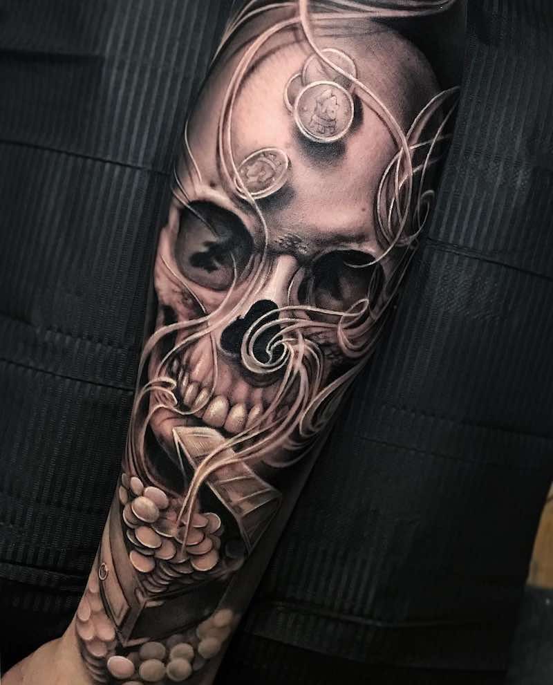 Skull Tattoo by Kir