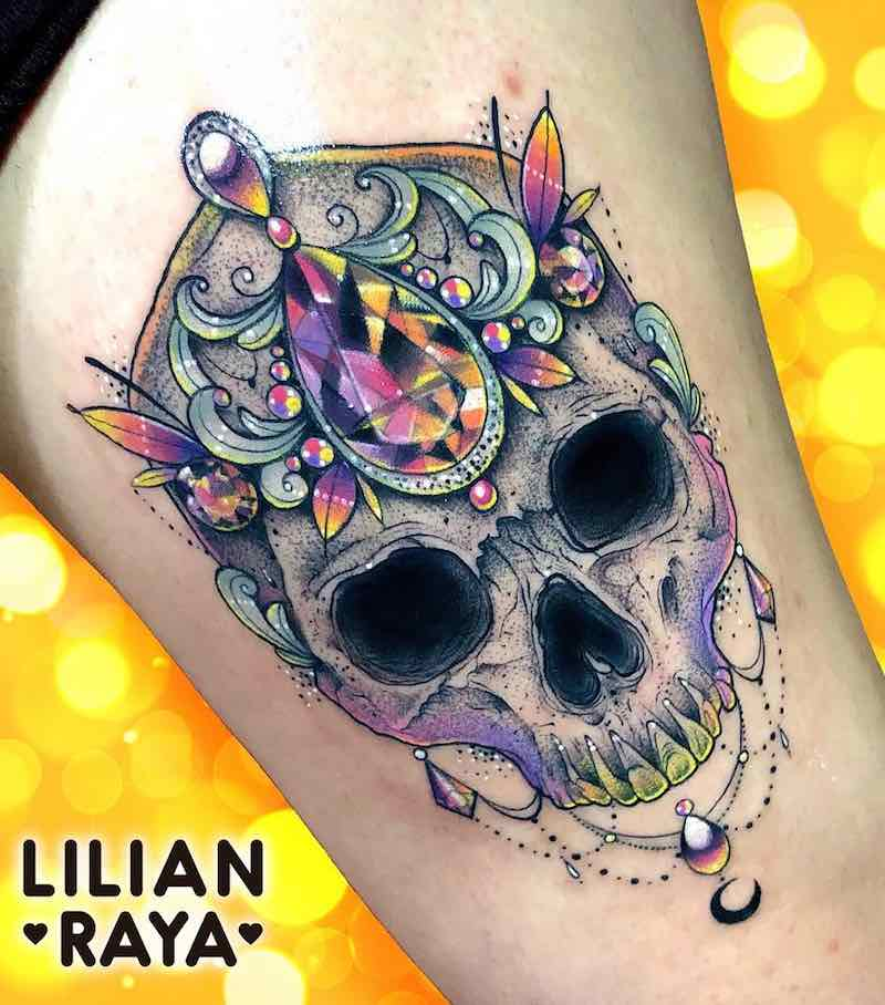 Skull Tattoo by Lilian Raya