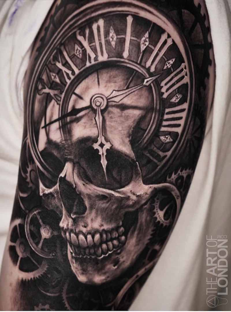 Skull Tattoo by London Reese