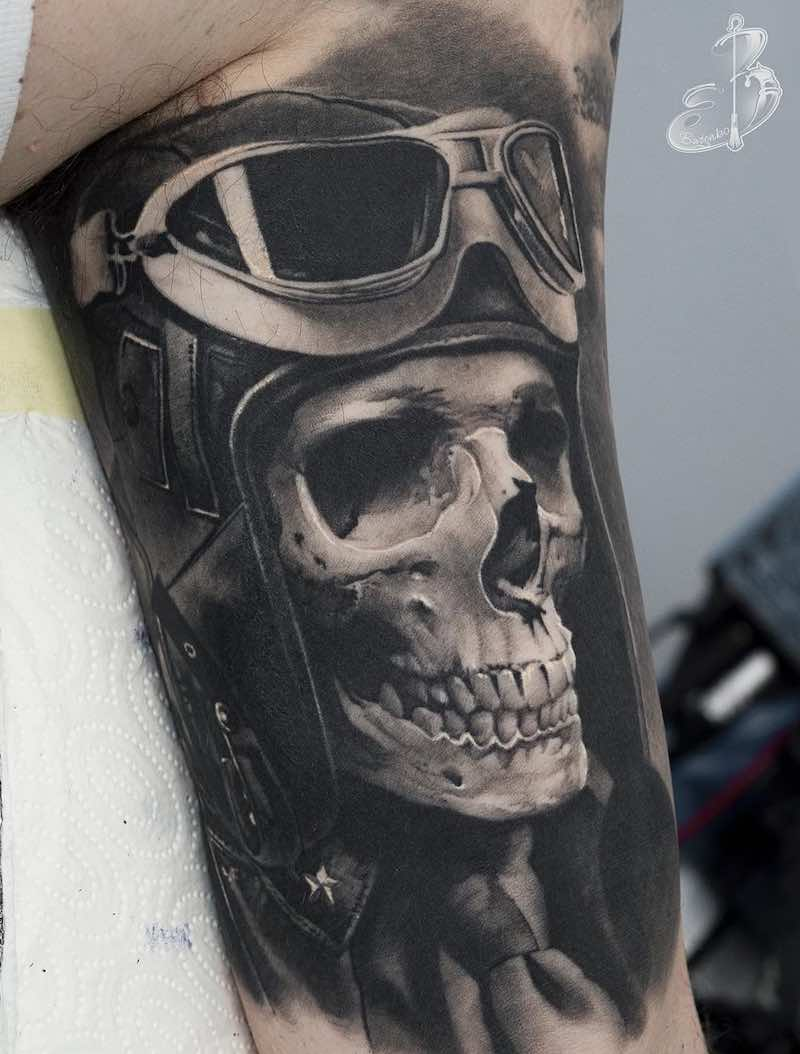 Skull Tattoo by Sergey Butenko