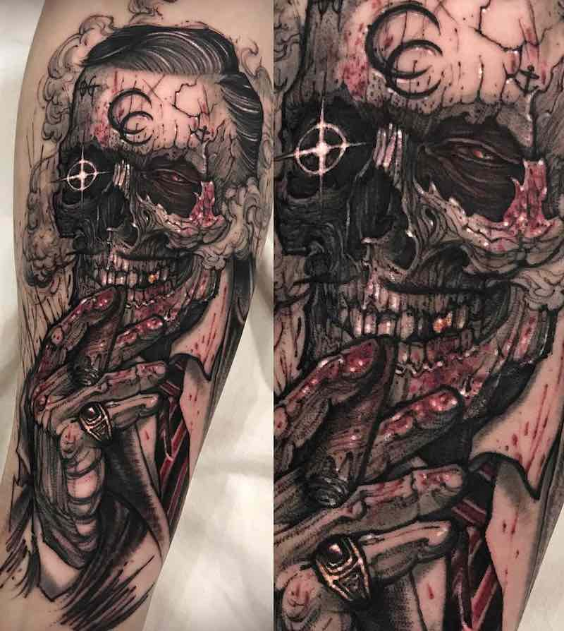 Skull Tattoo by Varo