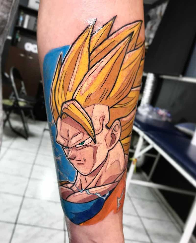 Super Saiyan Goku Tattoo by Negative Tattoo