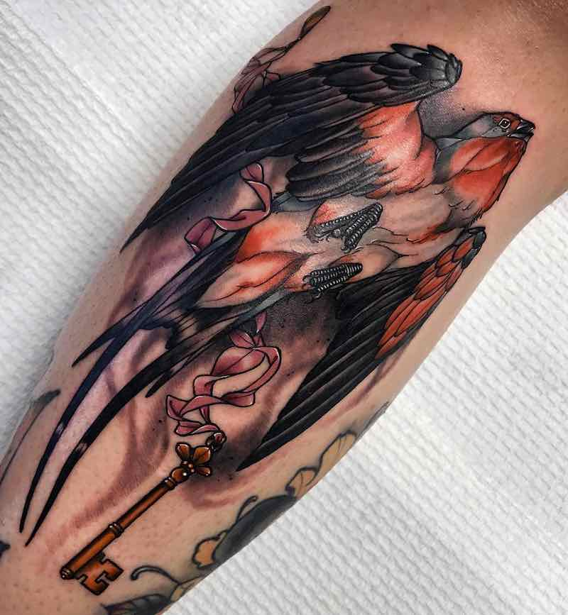 Swallow Tattoo by Alexander Masom