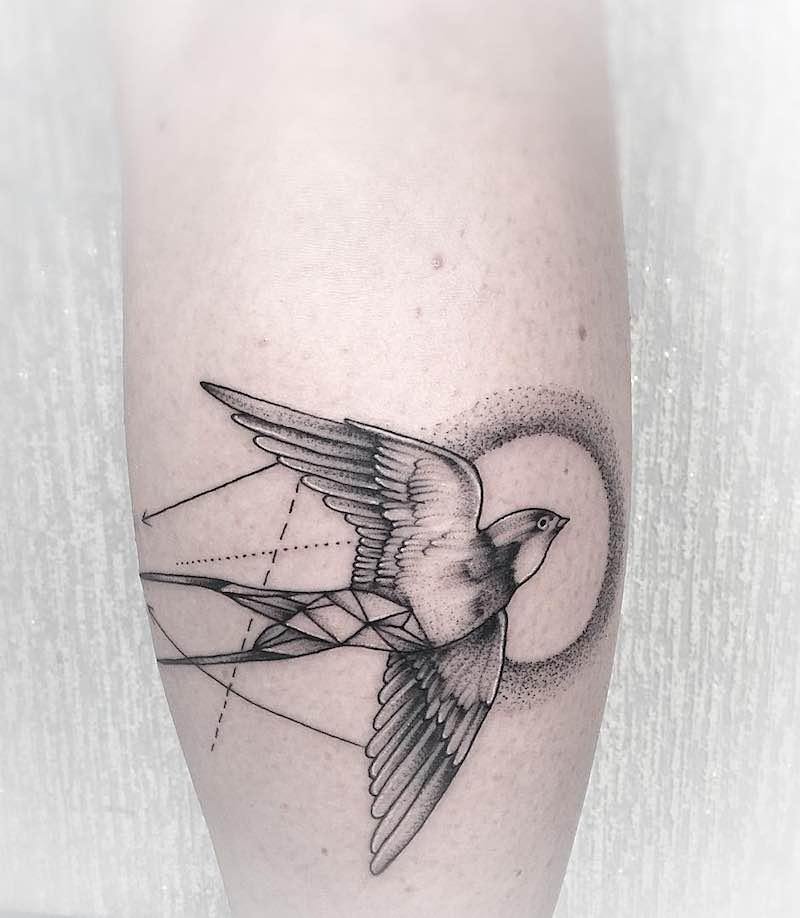 Swallow Tattoo by Anna Bravo