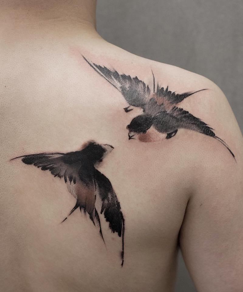 Swallow Tattoo by Chen Jie