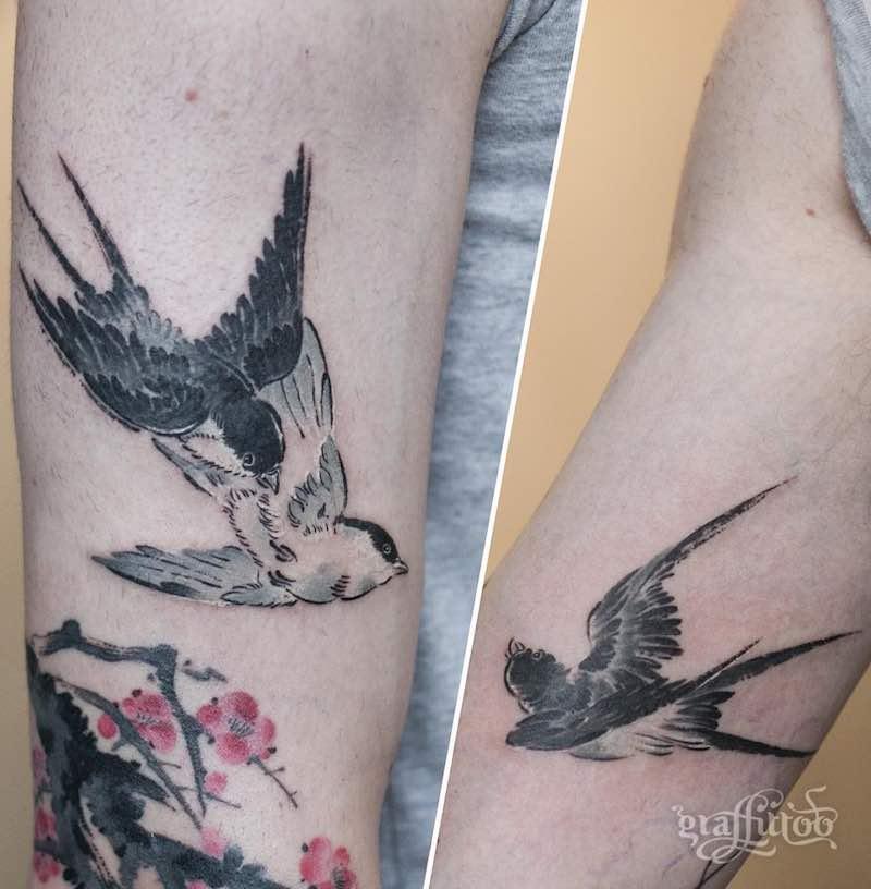 Swallow Tattoo by Graffittoo