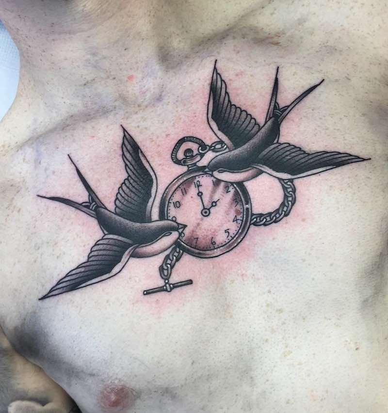 Swallow Tattoo by Jean Le Roux