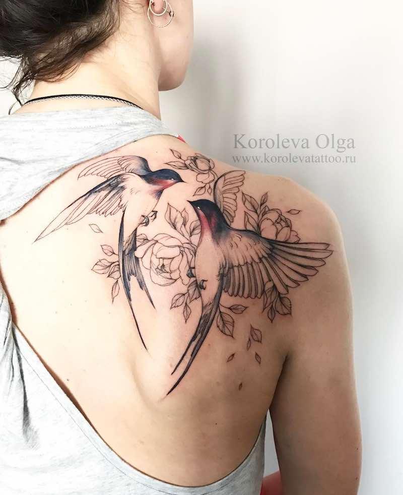 Swallow Tattoo by Olga Koroleva