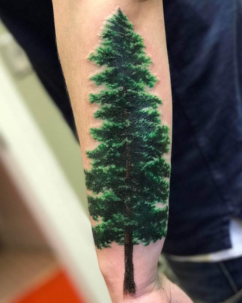 Tree Tattoo by Bleach