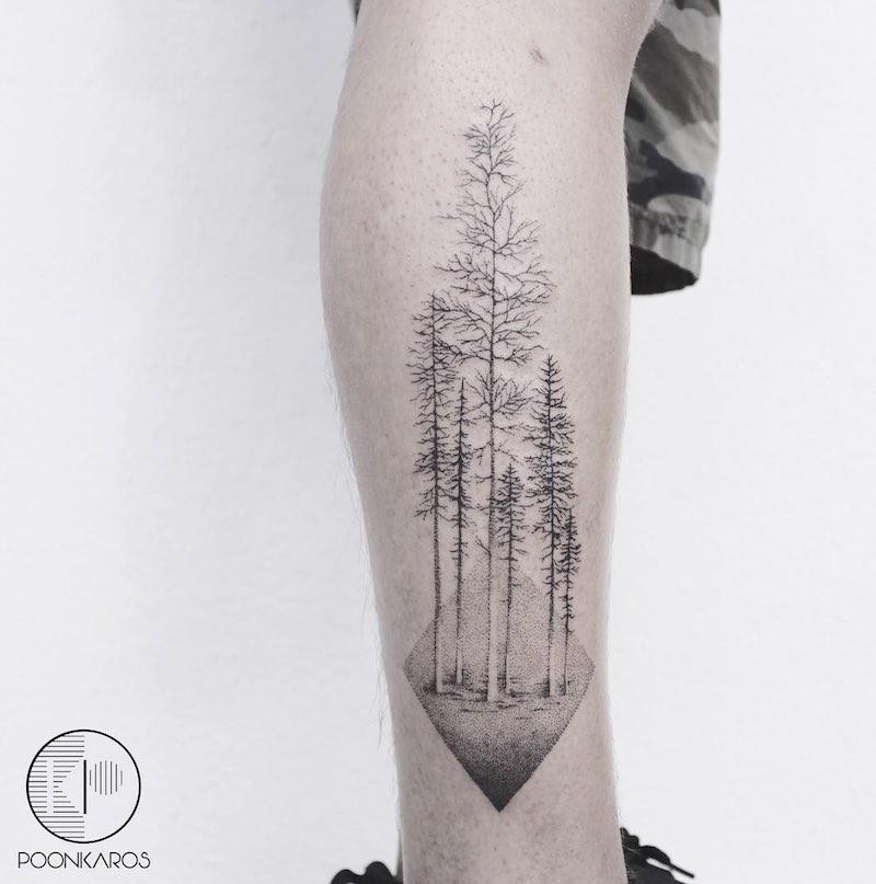 Tree Tattoo by Karry Ka-Ying Poon