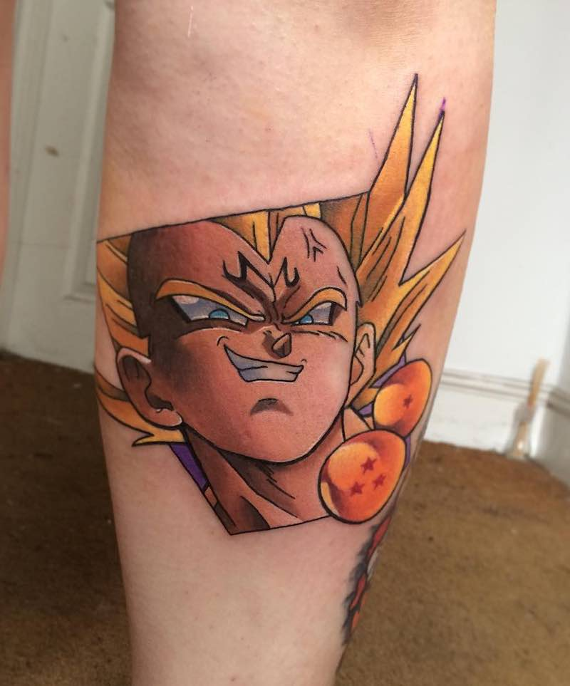 Vegeta Tattoo by Andy Walker