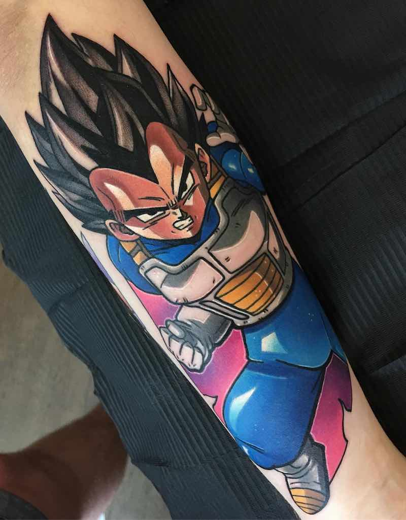 Vegeta Tattoo by Dane Grannon-