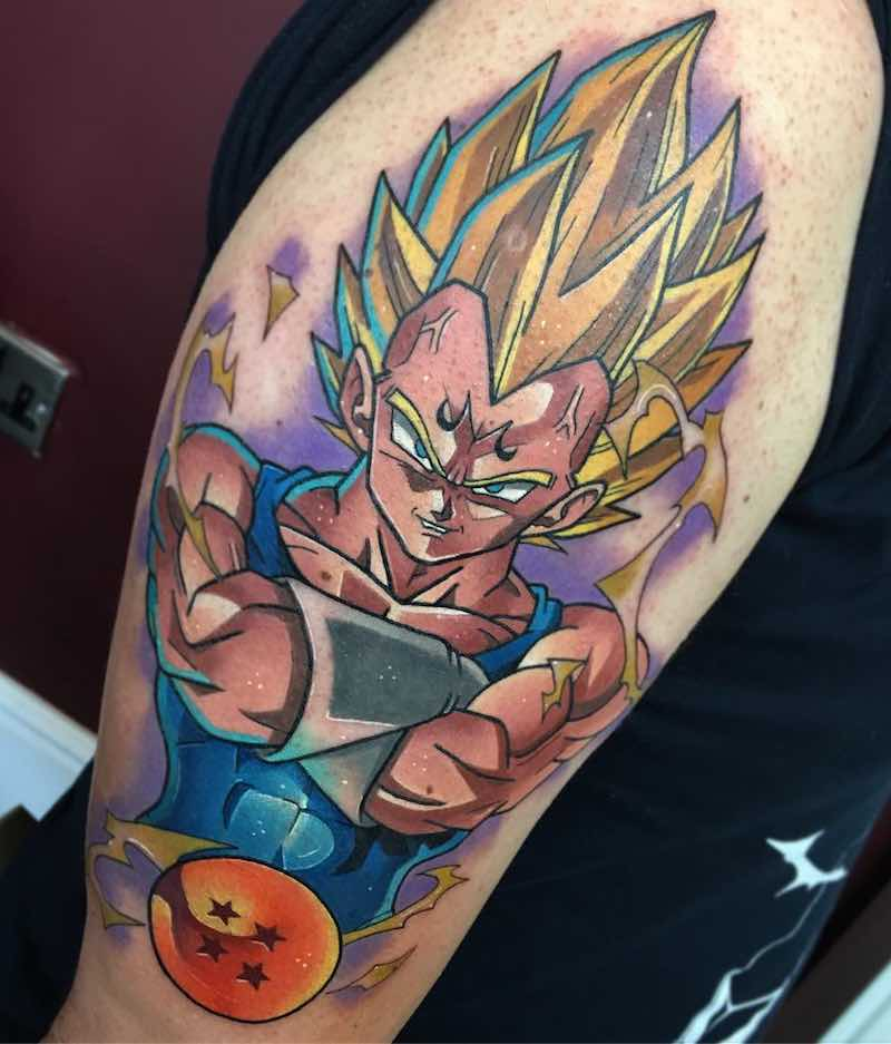 Vegeta Tattoo by Dane Grannon