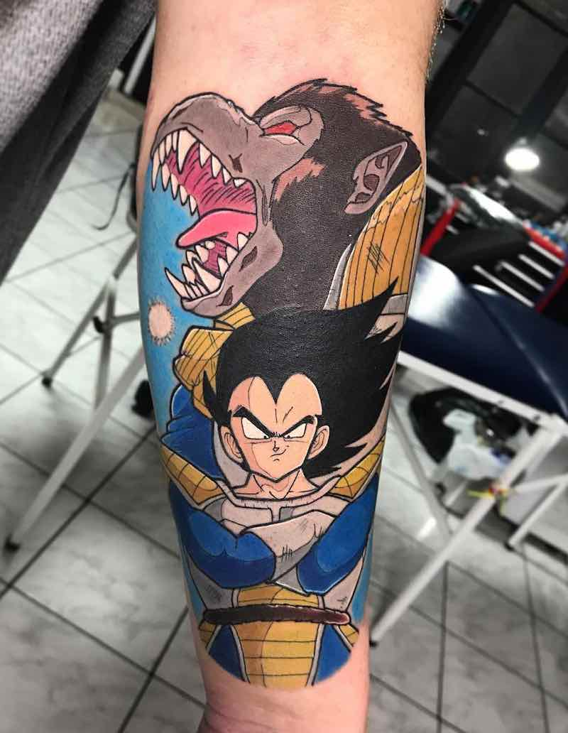 Vegeta Tattoo by Negative Tattoo
