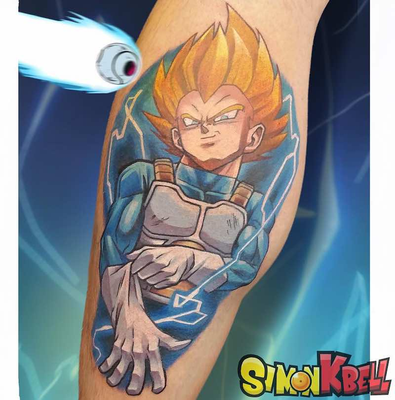Vegeta Tattoo by Simon K Bell -
