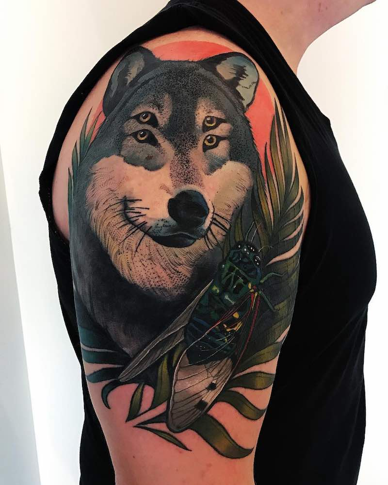 Wolf Tattoo by The Witchdoctor