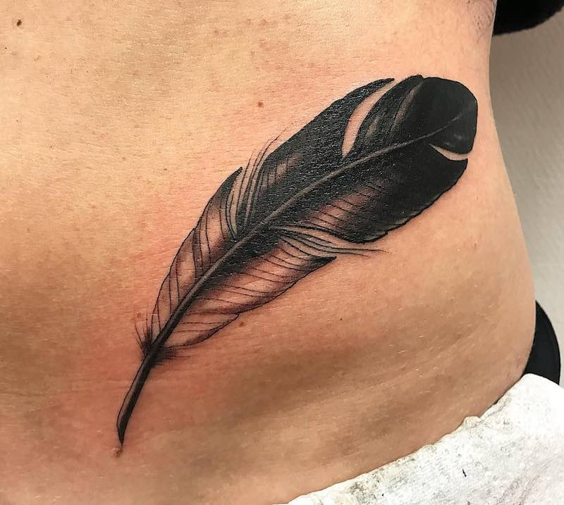 Feather Tattoo by Rickard Oster