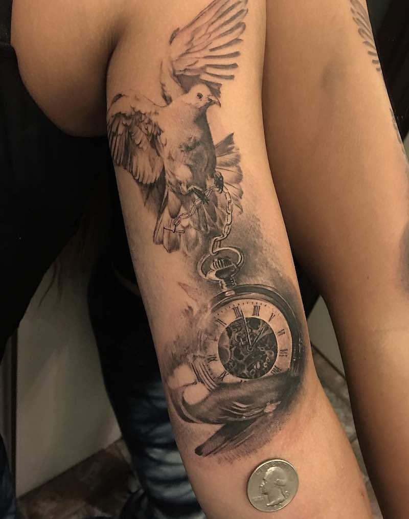 Dove Tattoo by Allan Rivera