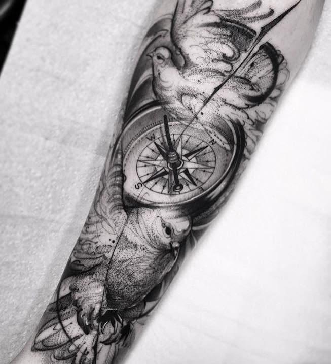 Dove Tattoo by Bruno Santos