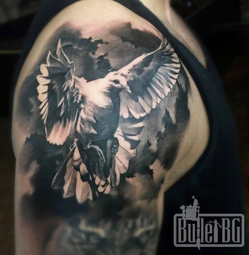 Dove Tattoo by Bullet BG