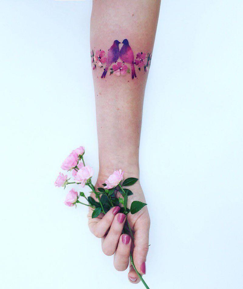 Dove Tattoos by Pis Saro