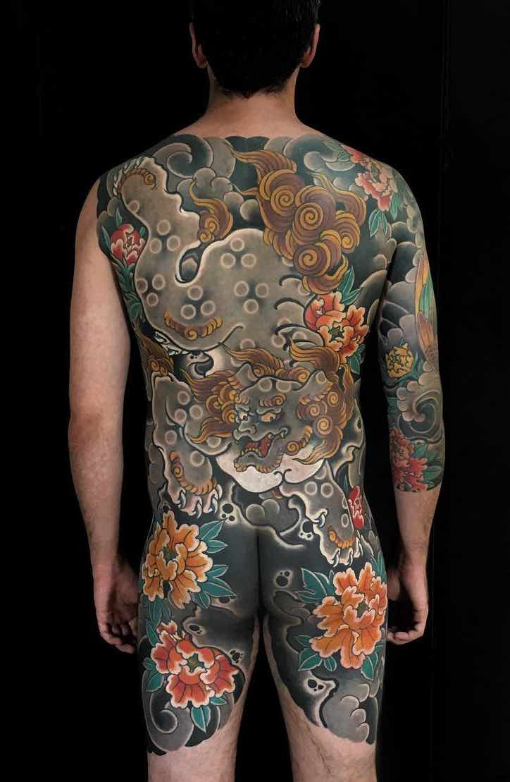 Back Japanese Tattoo by Hugo HAB