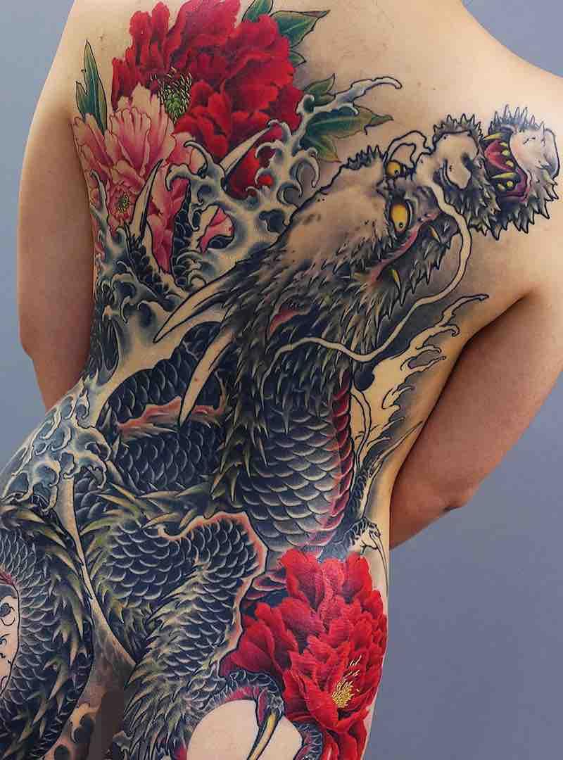 Back Japanese Tattoo by Kenji Shigehara