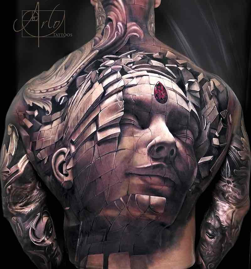 Back Tattoo by Arlo DiCristina