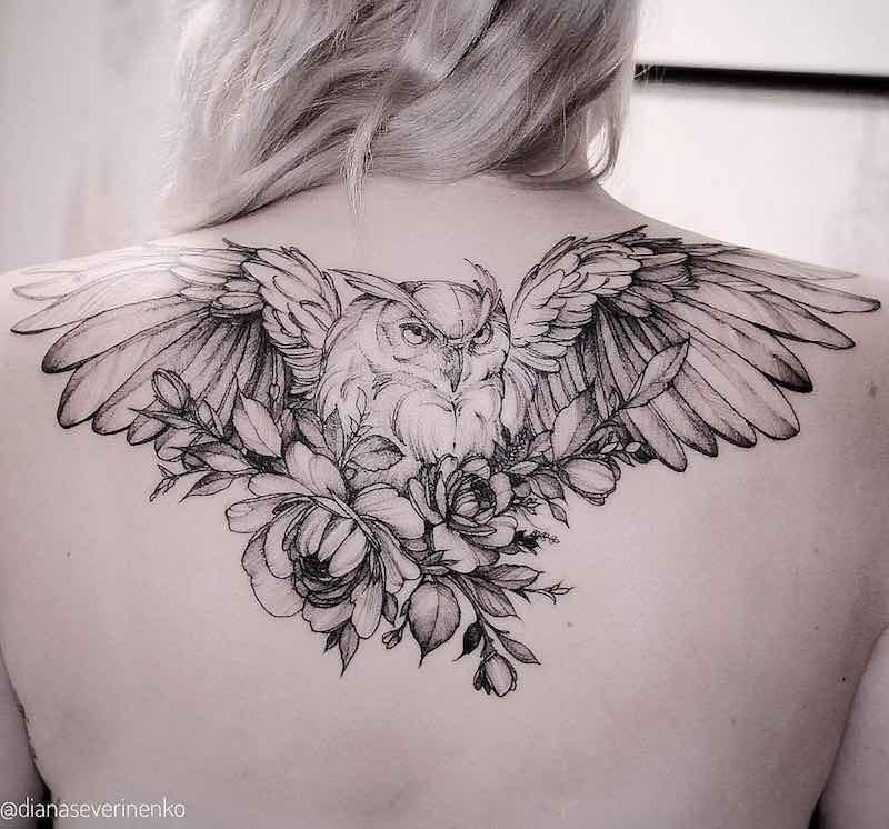 Back Tattoos for Women Diana Severinenko