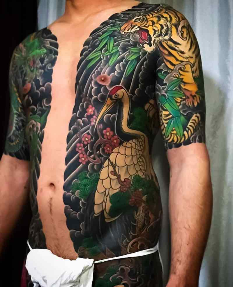 Body Suit Japanese Tattoo by Horifuji