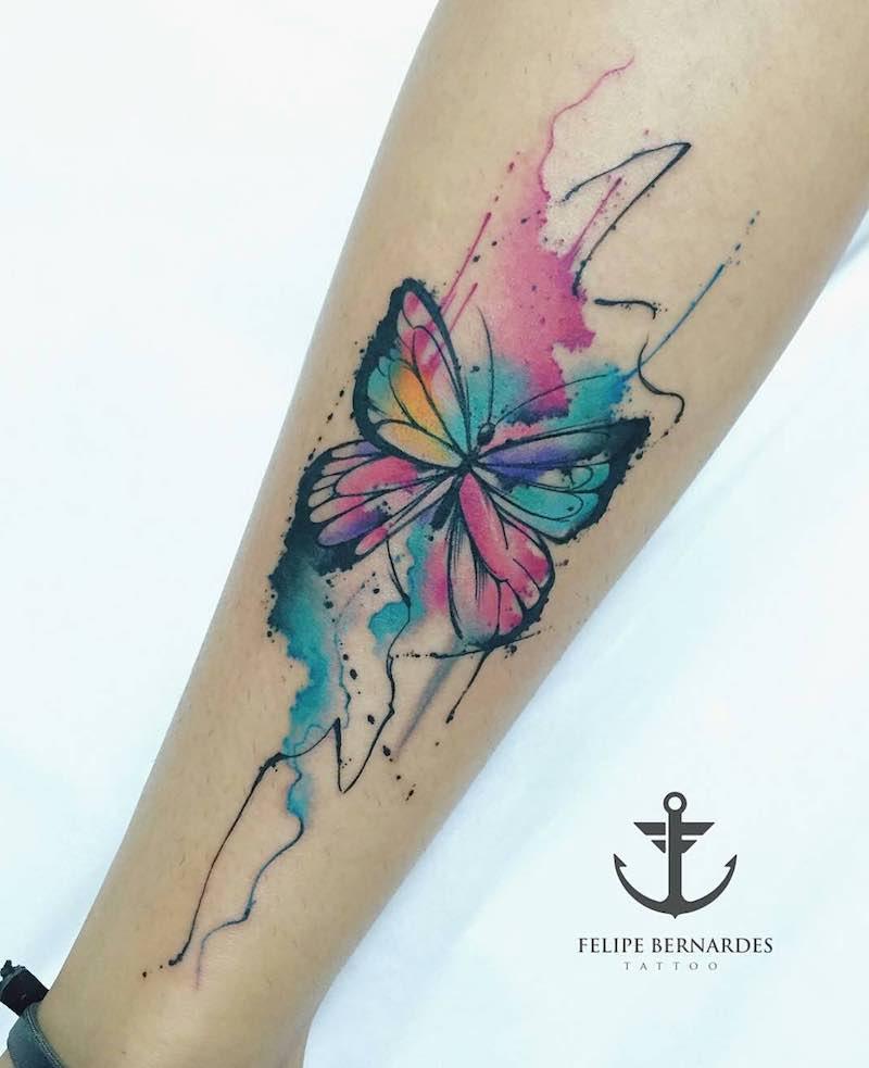 Butterfly Tattoo by Felipe Bernardes