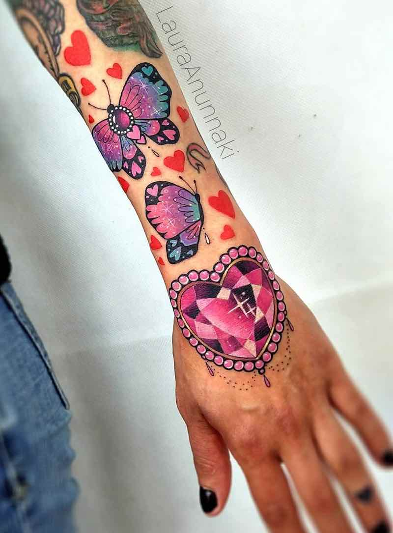 Butterfly Tattoo by Laura Anunnaki